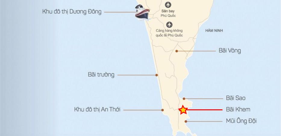 Vị trí Bãi Khem Phú Quốc bãi khem - Vị-trí-Bãi-Khem-Phú-Quốc-WikiPhuQuoc - Bãi Khem – tuyệt tác của thiên nhiên tại đảo ngọc Phú Quốc