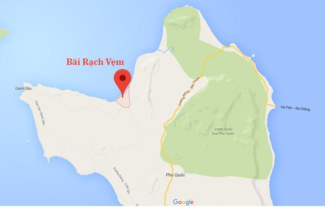Vị-trí-Bãi-Rạch-Vẹm---Phú-Quốc bãi rạch vẹm - Vị-trí-Bãi-Rạch-Vẹm-Phú-Quốc1 - Bãi Rạch Vẹm – vương quốc sao biển tại đảo ngọc Phú Quốc