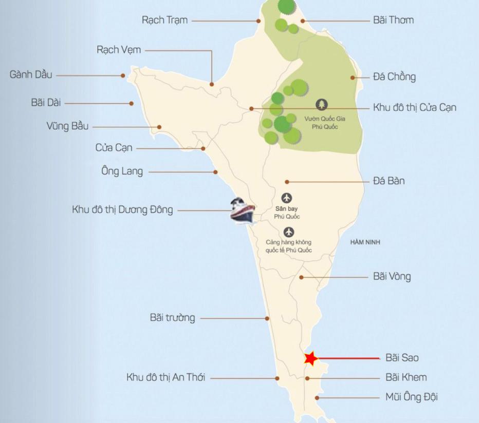 Vị trí Bãi Sao Phú Quốc bãi sao - Vị-trí-Bãi-Sao-Phú-Quốc-WikiPhuQuoc - Bãi Sao – Bãi biển thiên đường vạn người mê tại Phú Quốc