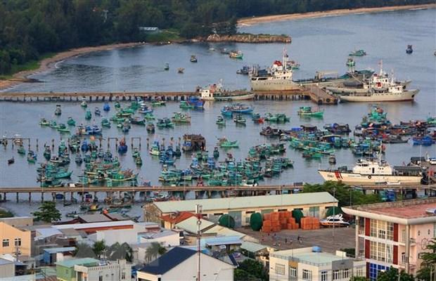 Tàu thuyền neo đậu tại cảng An Thới, huyện đảo Phú Quốc (Kiên Giang). (Ảnh: Ngọc Hà/TTXVN) phú quốc - Tàu-thuyền-neo-đậu-tại-cảng-An-Thới-huyện-đảo-Phú-Quốc-Kiên-Giang - Những hệ lụy phát sinh từ việc phát triển 'nóng' tại Phú Quốc