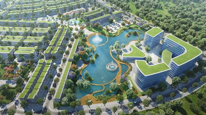 Phối cảnh công viên hồ Lake Park tại khu Olive. Ảnh: Tân Á Đại Thành. - WikiLand  - pic-3-lake-park-1617622292-161-3189-7963-1617622747 - Meyhomes Capital Phú Quốc ra mắt khu Olive