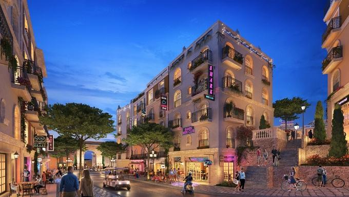 Du khách có thể trải nghiệm các tiện ích dịch vụ đa dạng tại thị trấn Địa Trung Hải lâu hơn, giúp tăng nguồn thu cho shophouse. Ảnh phối cảnh: Sun Group. - WikiLand  - a-nh-5-muo-n-2590-1625192987 - Shophouse The Center hưởng lợi từ hệ sinh thái tiện ích Nam Phú Quốc